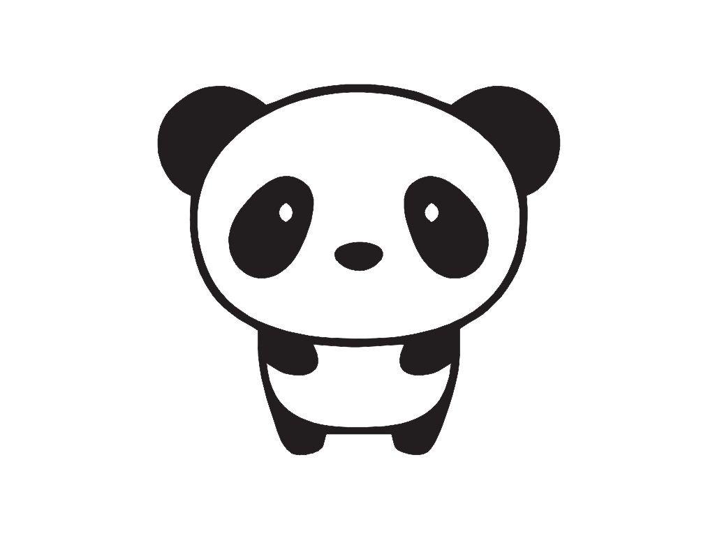 1024x768 Cute Baby Panda Bear Drawing Baby Panda Custom Vinyl Decal Sticker