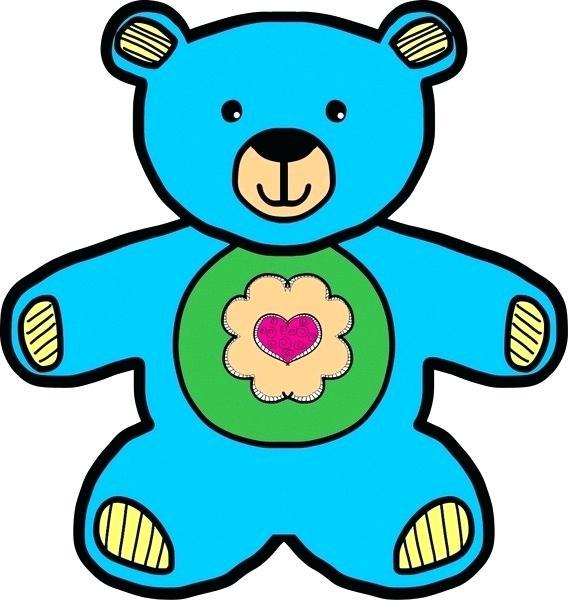 568x600 Drawing Of A Teddy Bear Blue Teddy Bear Drawing Vector