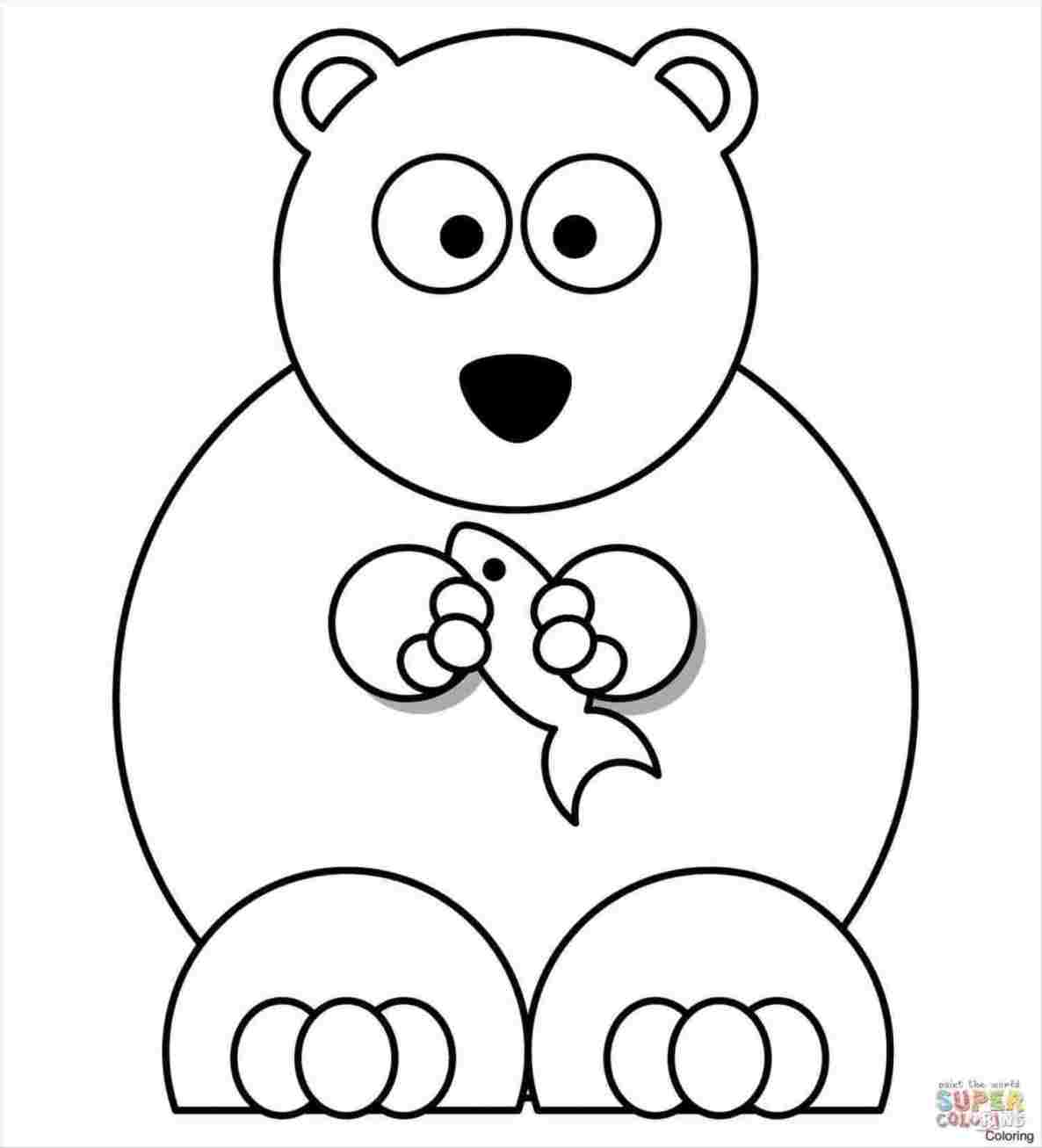 1186x1307 Easy Bear Drawing