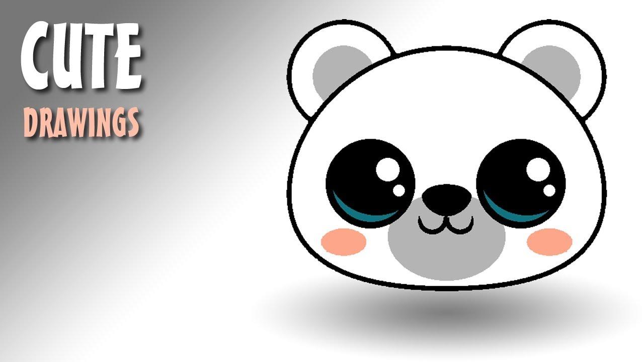 1280x720 How To Draw A Cute Polar Bear Face Kawaii