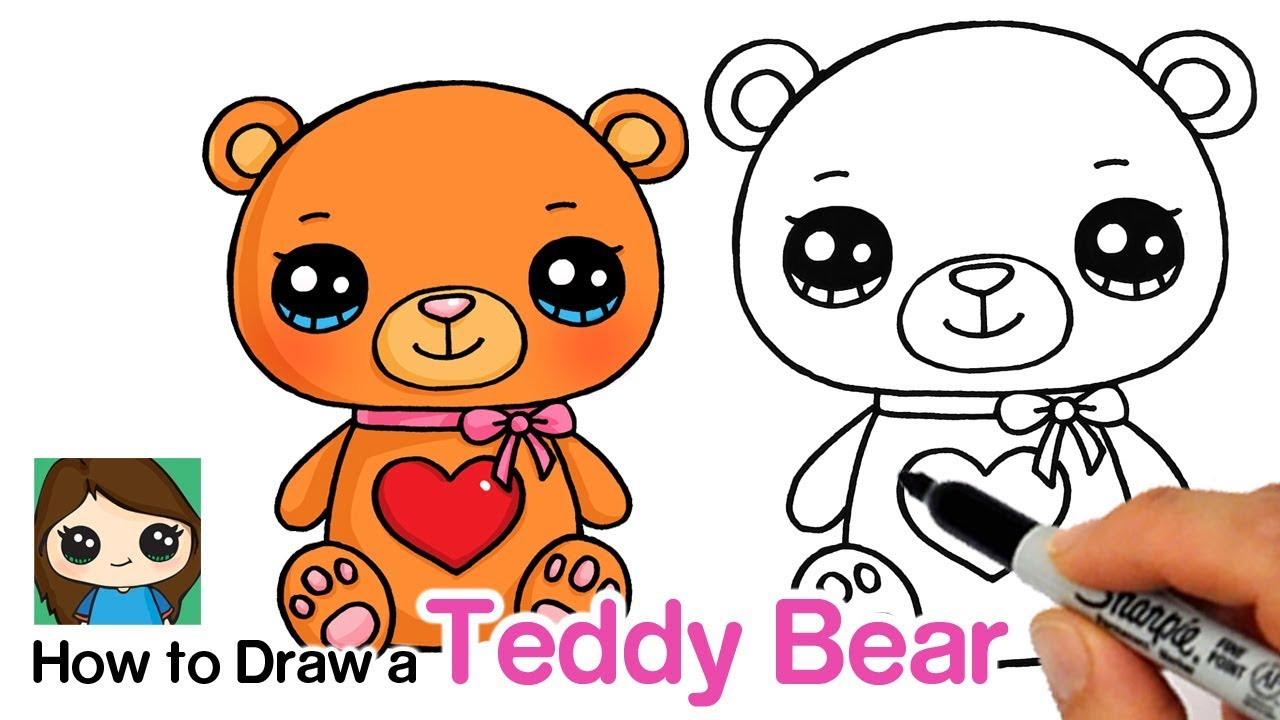1280x720 How To Draw A Teddy Bear For Valentines