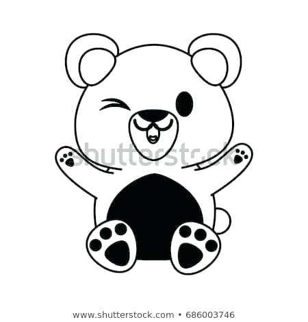 450x470 How To Draw A Cute Bear Cub Zupa
