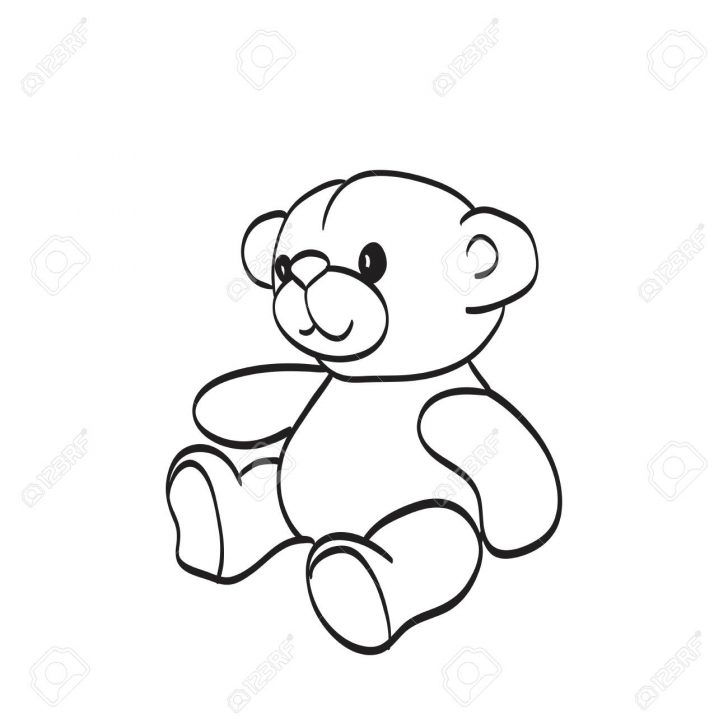 728x728 Coloring Pages Marvelous Teddy Bear Drawing Picture Inspirations