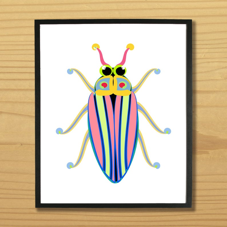794x794 beetle print bug print insect wall art insect print beetle etsy
