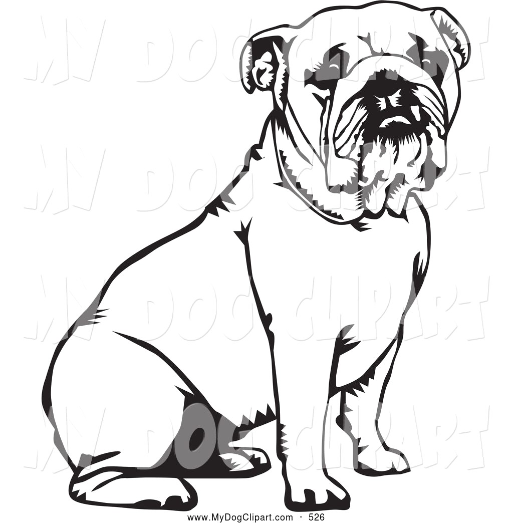 1024x1044 Cute Bulldog Clipart