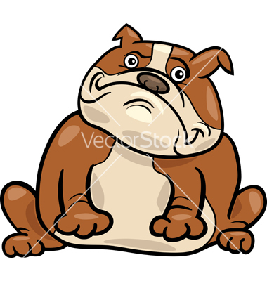 380x400 Cute Bulldog Drawing