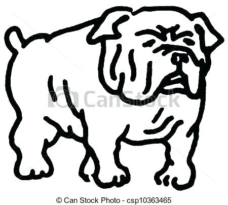 450x404 Drawing Of A Bulldog Image Bulldog Drawing Cute