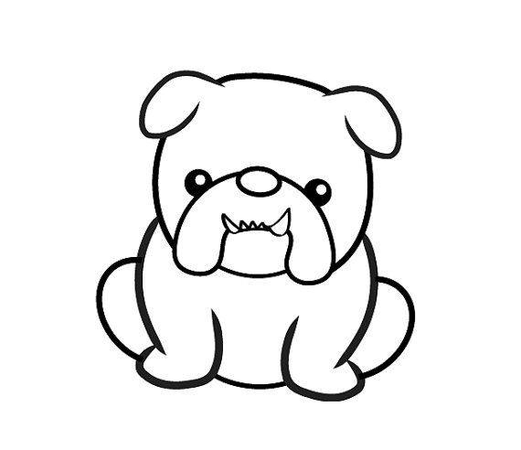 570x492 Handmade Clear Rubber Bulldog Stamp Galletas Bulldog Tattoo