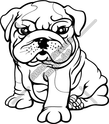 438x500 Concept Design Home Cute Bulldog Clipart Pictures Flowersdecor
