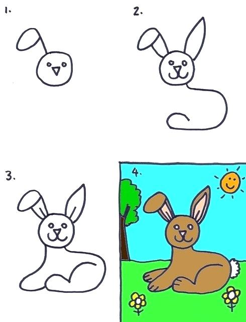 490x640 rabbit draw how to draw a rabbit rabbit drawing easy cute