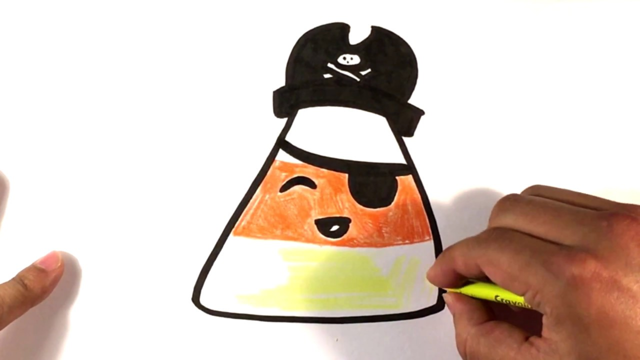 1280x720 How To Draw Cute Candy Corn Pirate Version