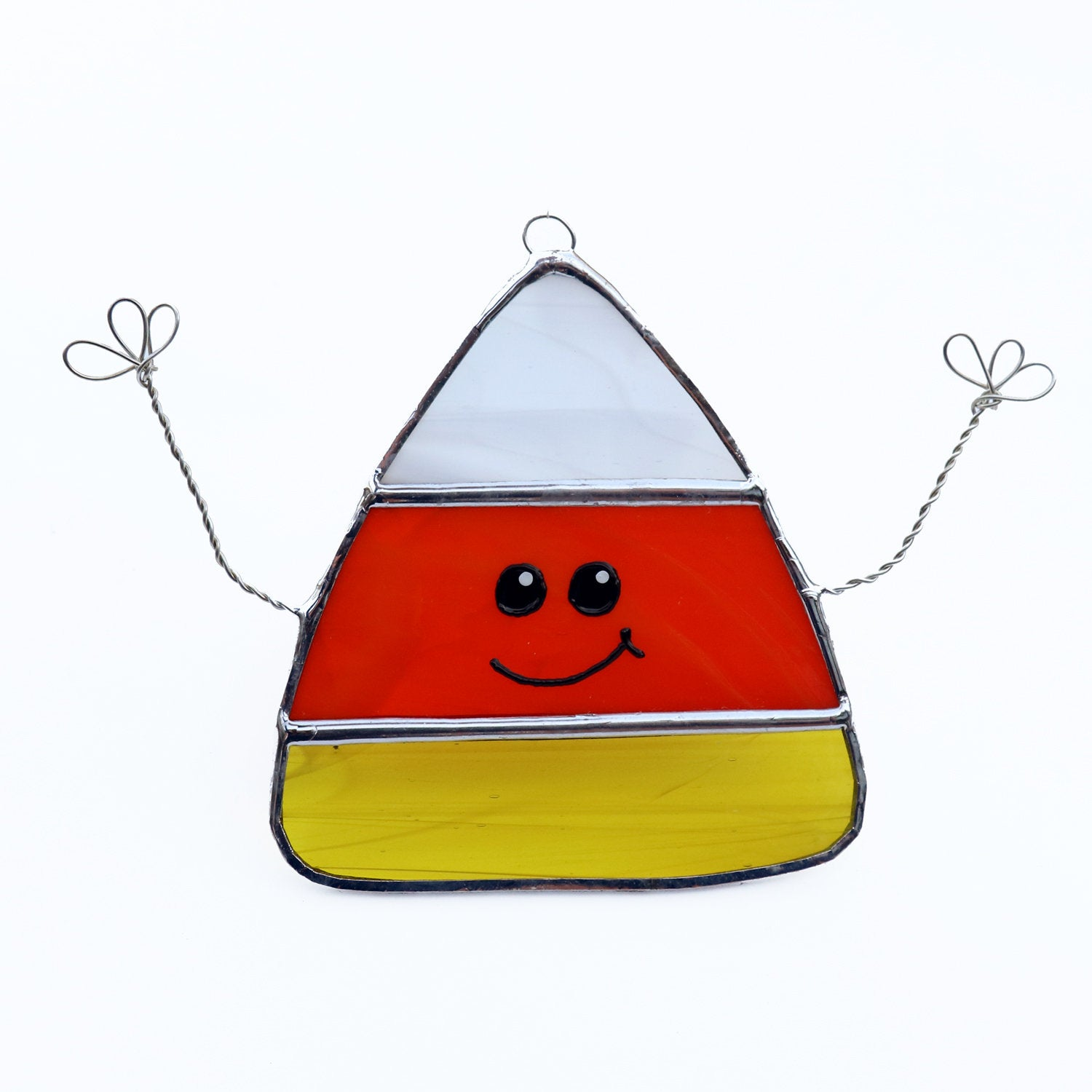 1500x1500 Candy Corn Halloween Decoration Stained Glass Window Etsy