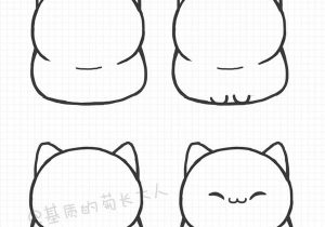 300x210 Easy Cute Cat Drawing How To Draw A Cat