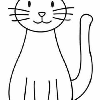 320x320 Kitty Cat A Simple Drawing Of Coloring