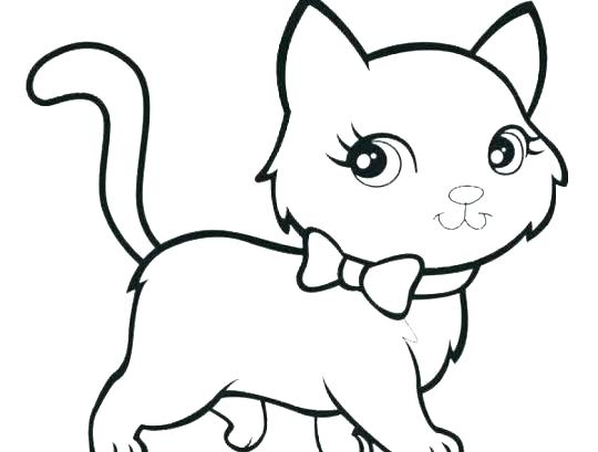 540x409 Drawing Of Kitten Step Draw The Kittens Drawing Cats