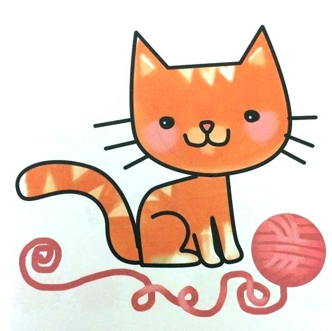 647x645 Easy Cats To Draw Cute Kitten Drawing Lesson Easy Cat For Kids