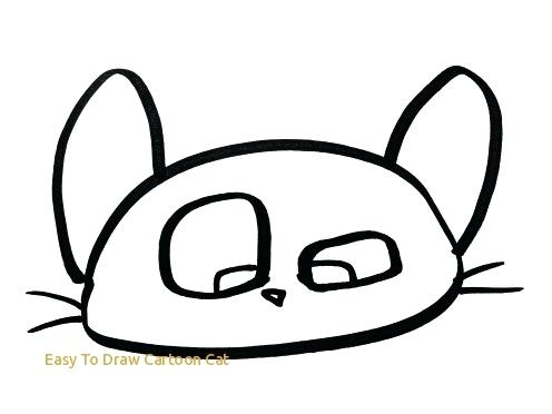 496x372 How To Draw A Cat Easy For Kids Easy To Draw Cartoon Cat How