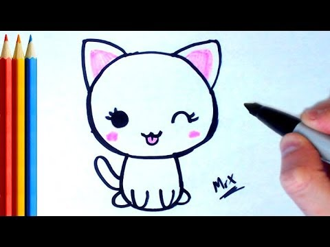 480x360 How To Draw Cute Cat