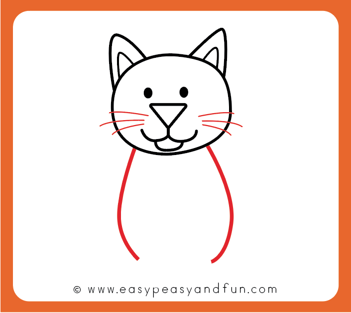 705x628 How To Draw A Cat