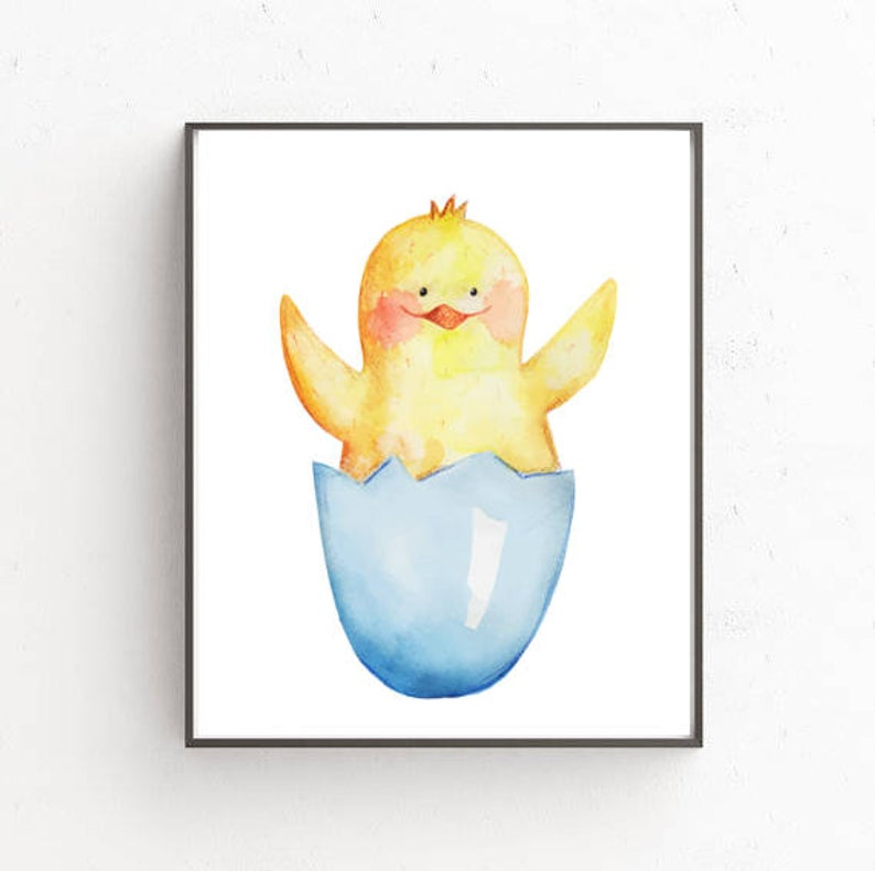 794x791 Chicken Cute Chicken Baby Decor In A Nursery Etsy