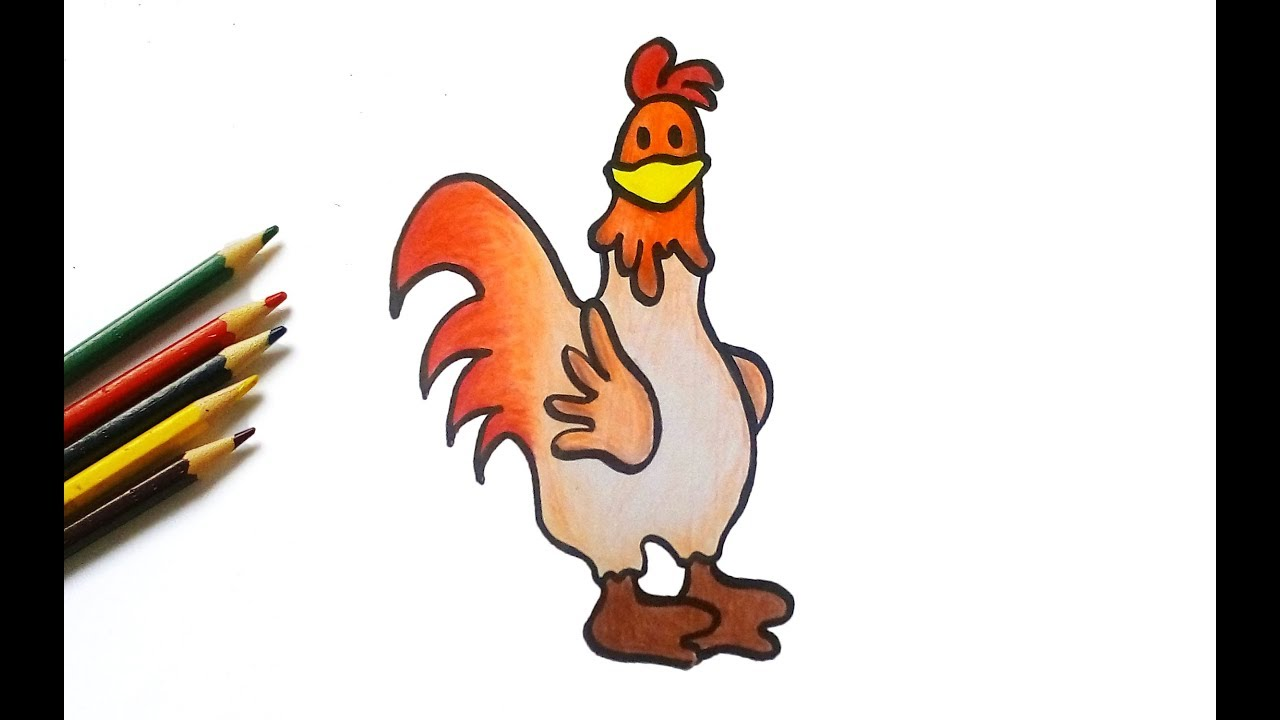 1280x720 How To Draw A Cute Chicken For Kids Easy Drawing Tutorial