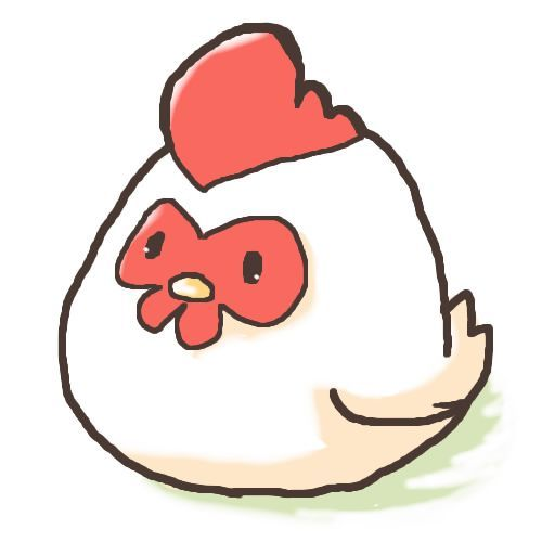 500x500 Cute Chicken Drawing