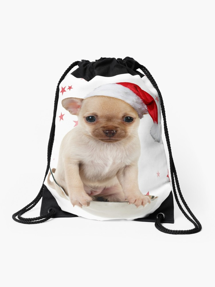 750x1000 cute chihuahua dog in ladle drawstring bag