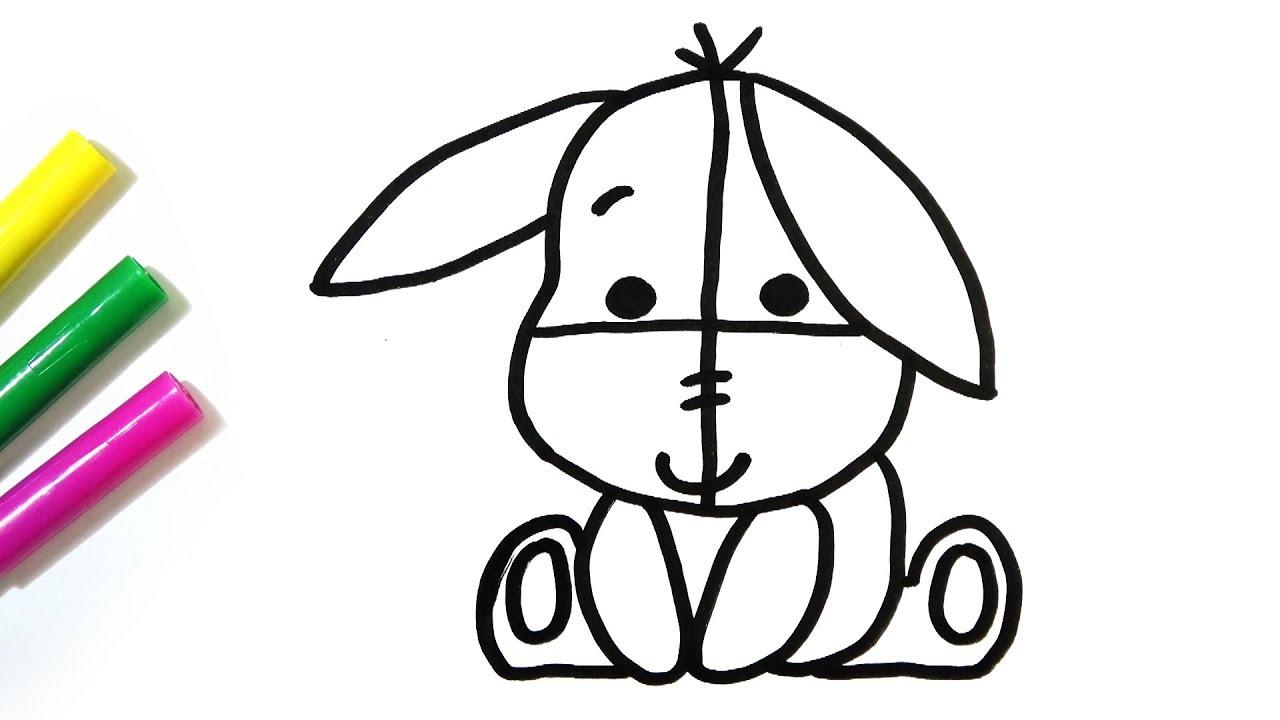 1280x720 How To Draw Cute Eeyore Hde