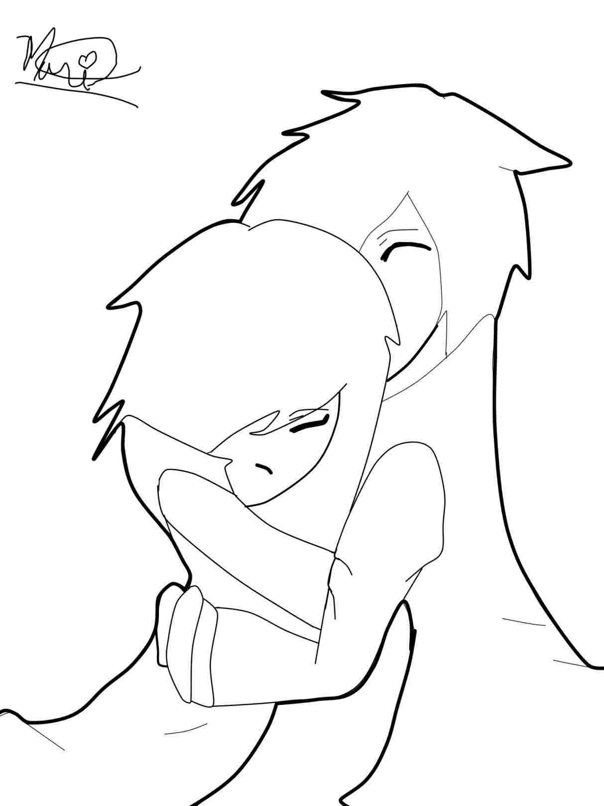 1213x1618 To Draw Cute Couples Step