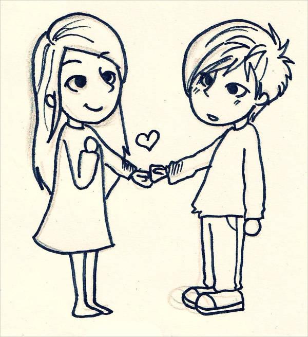 600x655 Cute Love Drawings