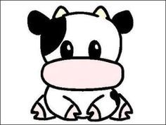 236x177 cute cow animation doodle, color, draw cow tattoo, cow