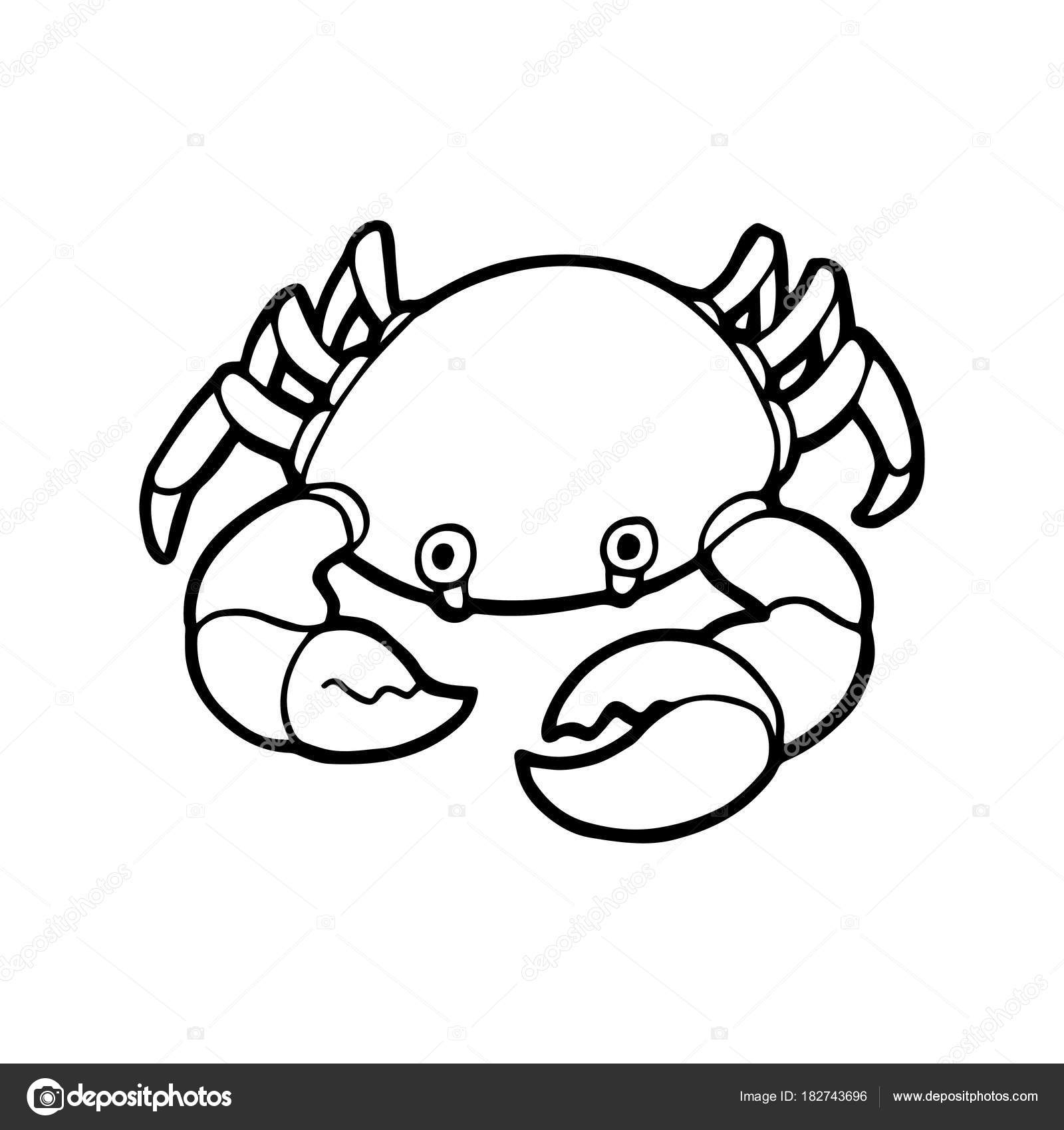 Cute Crab Drawing