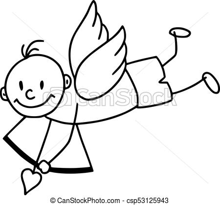 450x420 Cute Cupid In Cartoon Style Icon Cute Cupid Icon In Cartoon