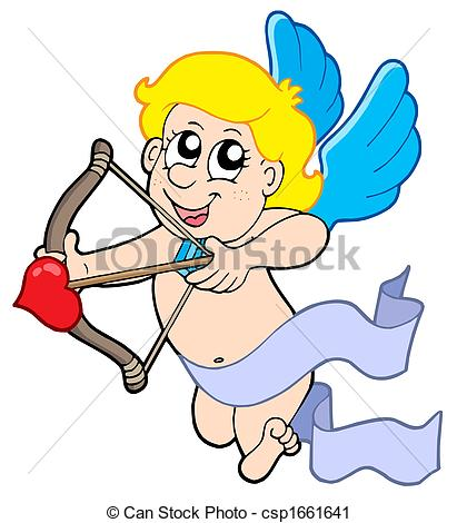 411x470 Cute Cupid With Bow