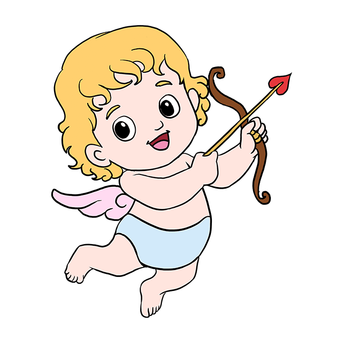 680x678 How To Draw Cupid