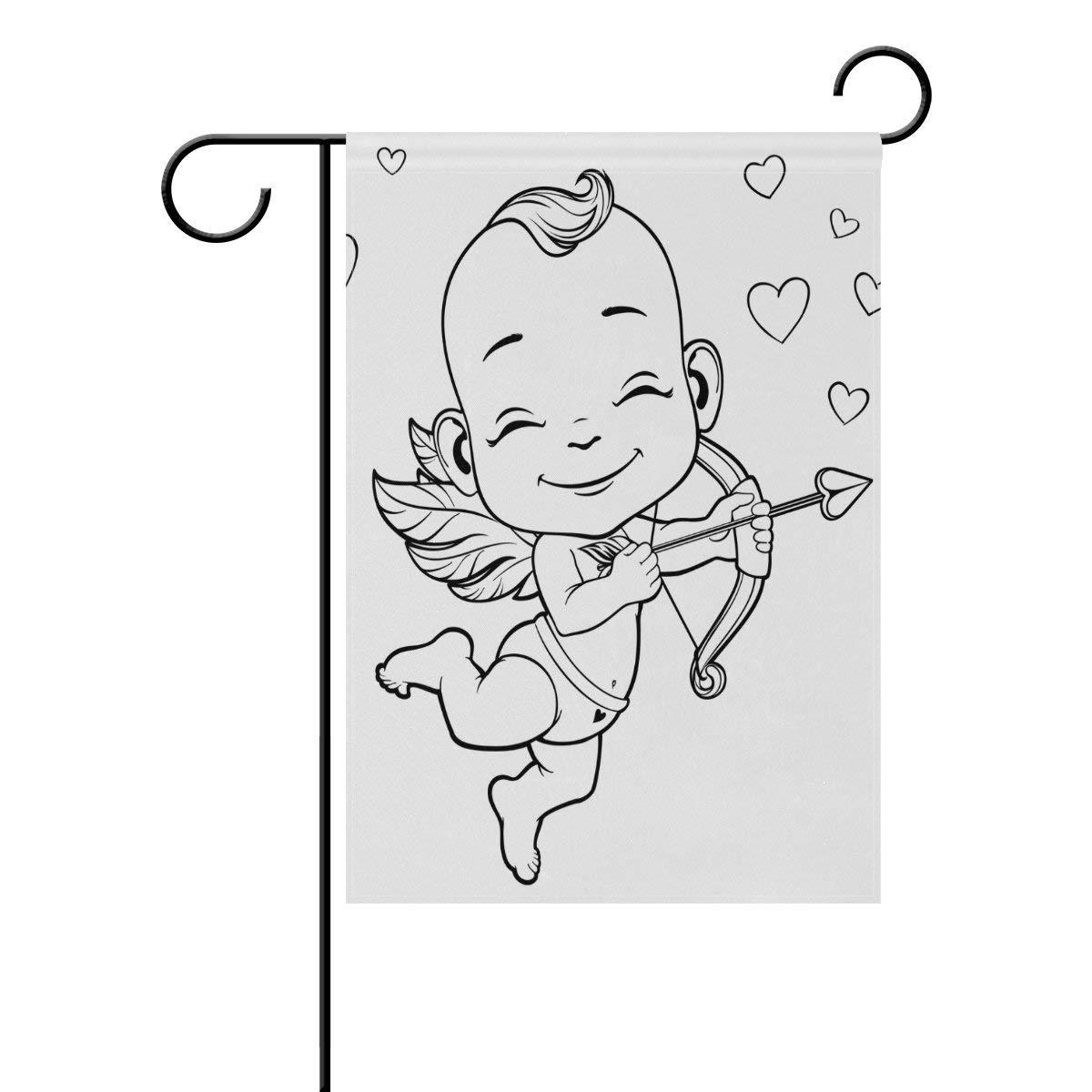 1200x1200 Afagahahs Black And White Cupid Heart Cute Cutout