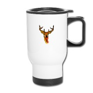 190x190 Cute Hand Draw Deer With Color Splashes Travel Mug Spreadshirt