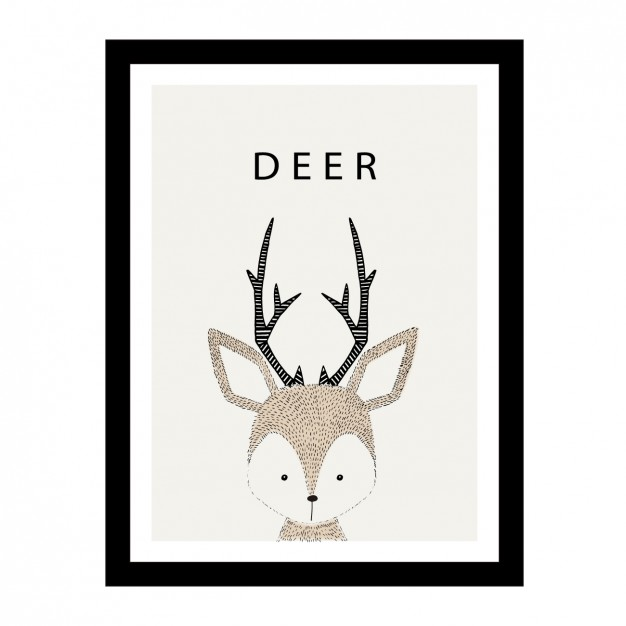 626x626 Cute Hand Drawn Deer Design Vector Free Download
