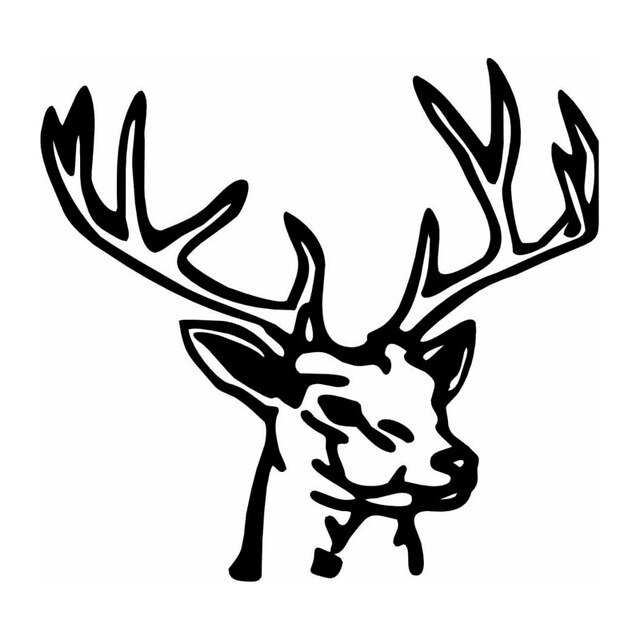 640x640 Cute Deer Interesting Car Stickers Decorative Car Styling