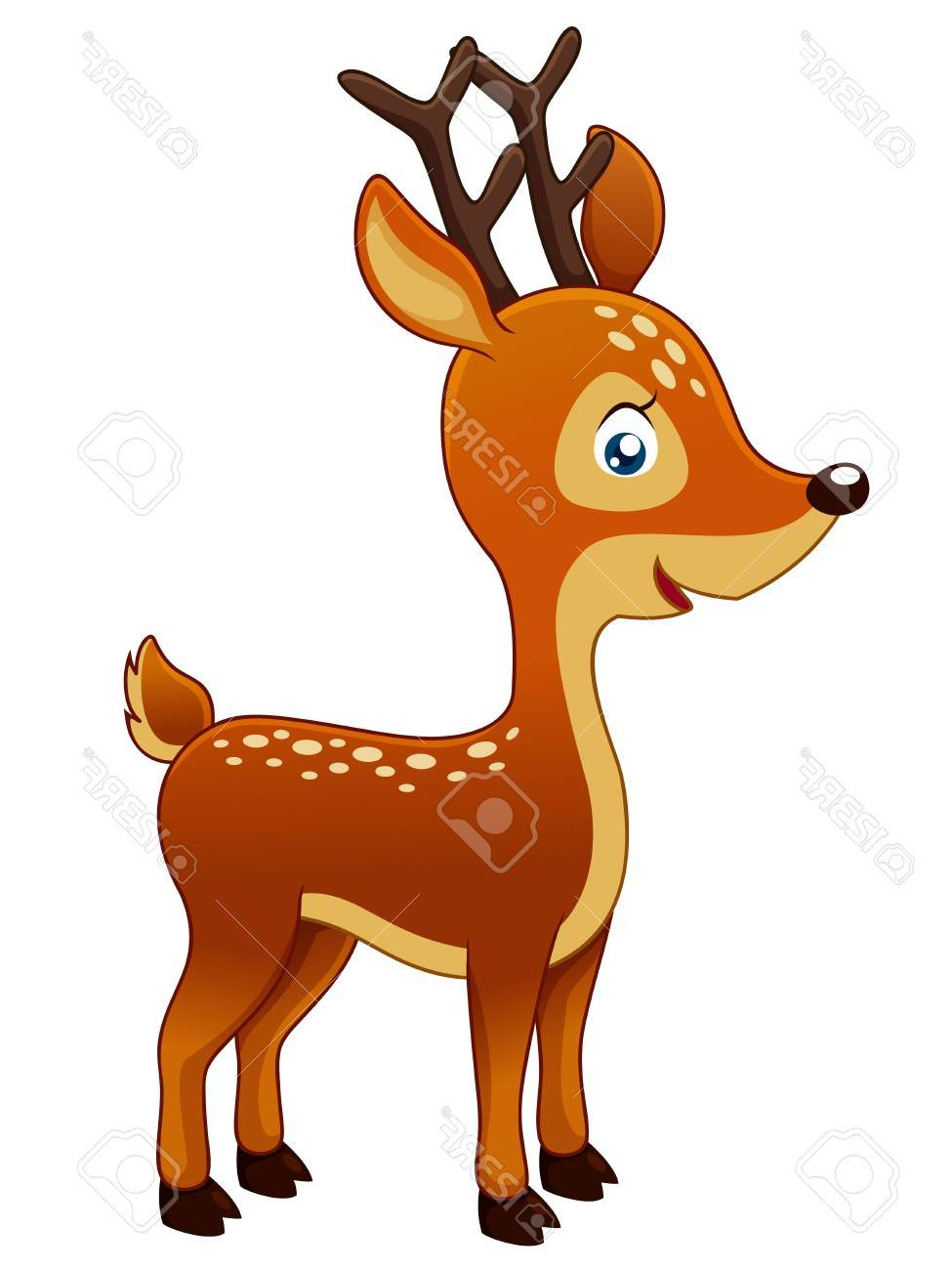 975x1300 Top Cute Cartoon Deer Drawings Vector Library Free Vector Art