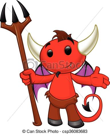 384x470 devil character a cartoon illustration of a cute devil character
