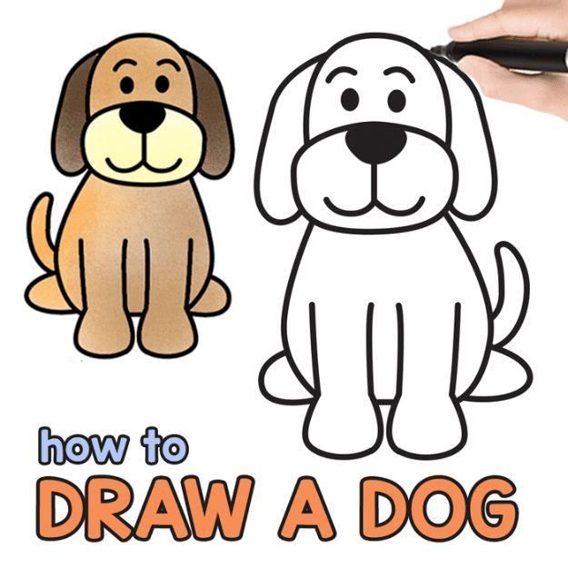 Cute Dog Anime Drawing