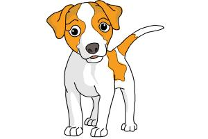 Cute Dog Drawing Easy | Free download best Cute Dog Drawing