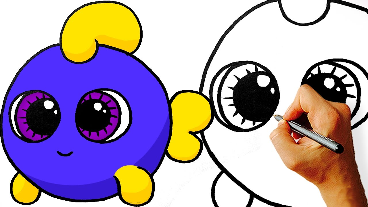 1280x720 Cute Fish Drawing Easy How To Draw Cartoon Step