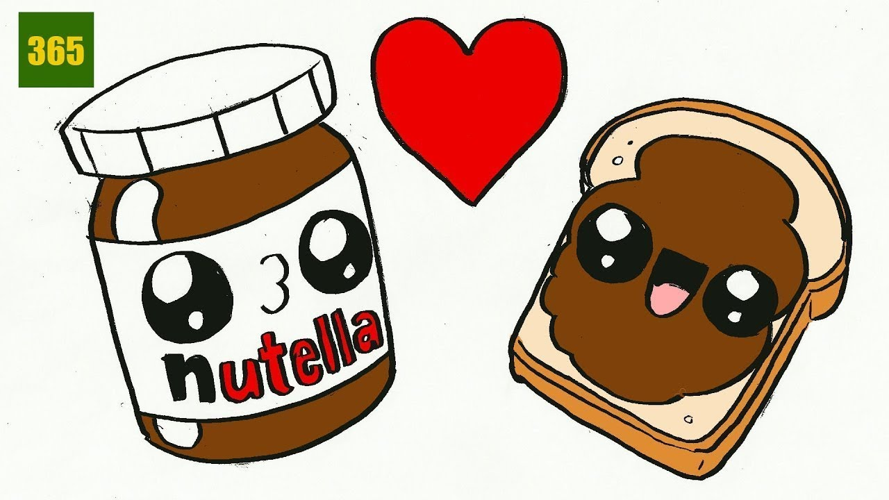 1280x720 How To Draw A Nutella Cute, Easy Step