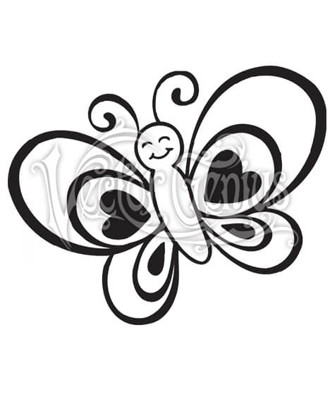 468x580 High Resolution Cute Butterfly Kid Drawing Adorable Clip Art Stock