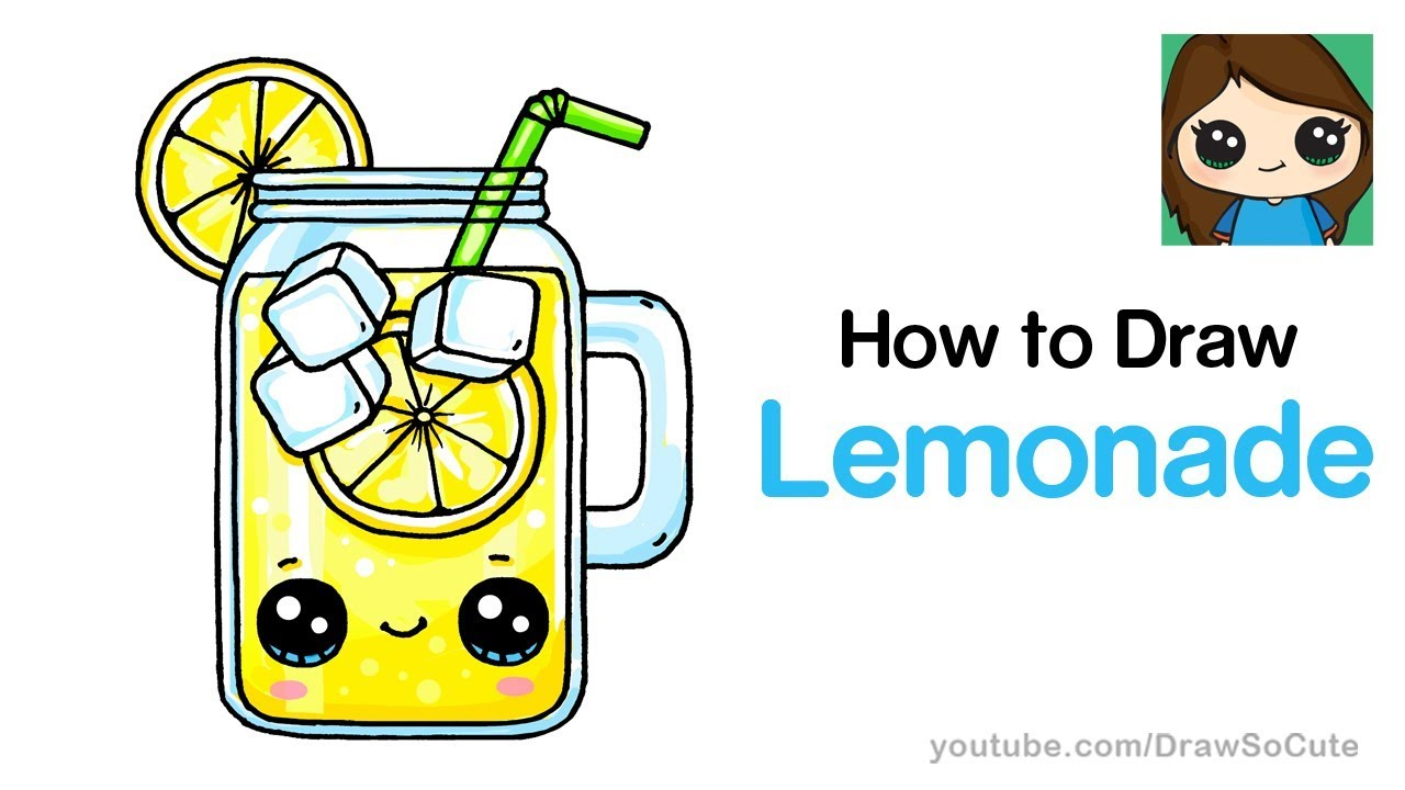 1280x720 How To Draw Lemonade Easy And Cute