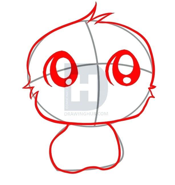 614x648 Easy Monkey To Draw Cute Easy Monkey Drawings