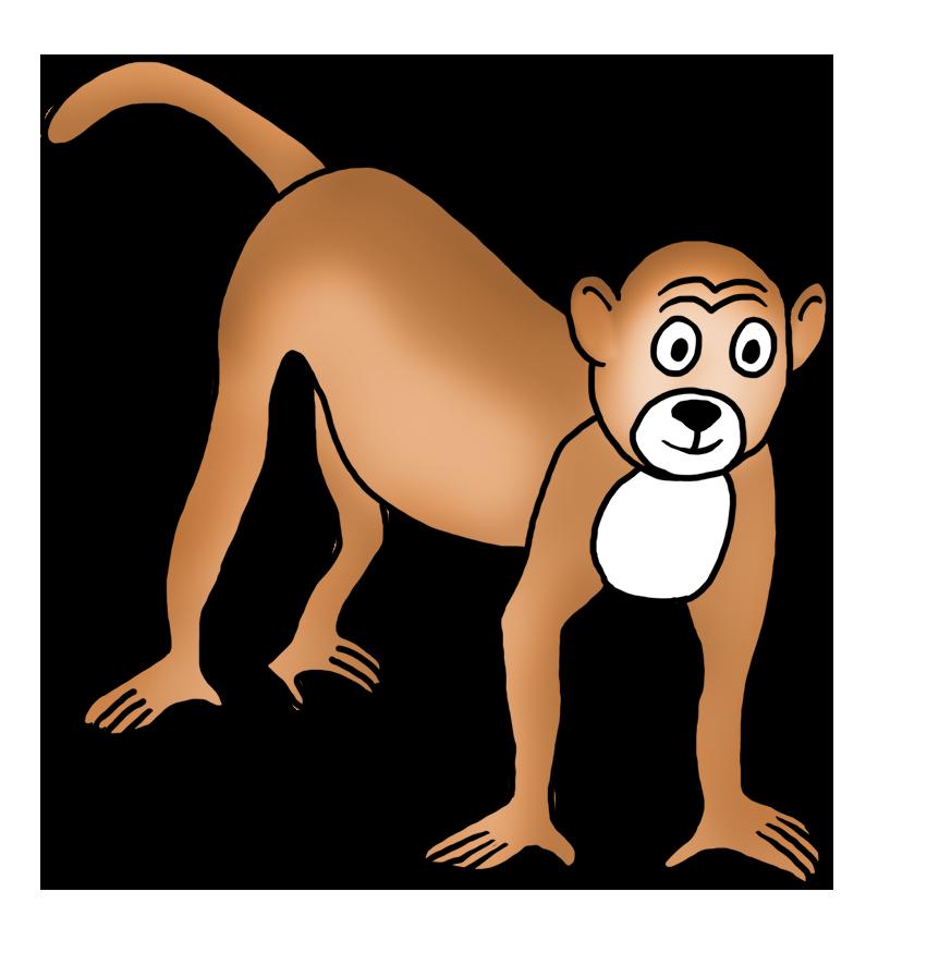 862x886 Funny Monkey Drawings