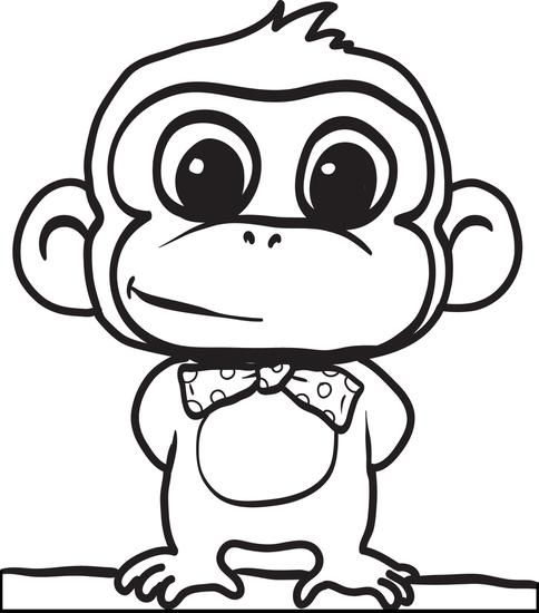 484x550 How To Draw A Cartoon Monkey With This Easy To Follow Step
